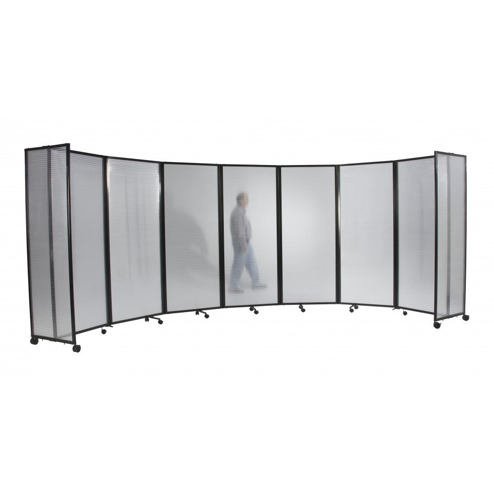 360 Acoustic Portable Room Divider Clear Polycarbonate