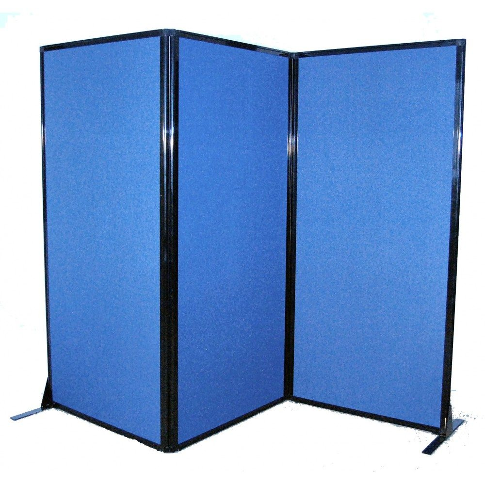 Afford-A-Wall Folding Mobile Room Divider (Fabric) - Afford-A-Wall Folding Mobile Room Divider (Fabric) Portable