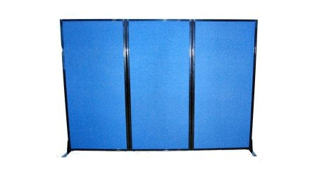 Afford A Wall Folding Mobile Room Divider Blue FabricWorkstation Office Screen   Portable Partitions New Zealand. Office Wall Dividers Nz. Home Design Ideas