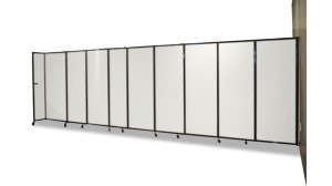 Sliding Room Partition , wall mountable, fully extended